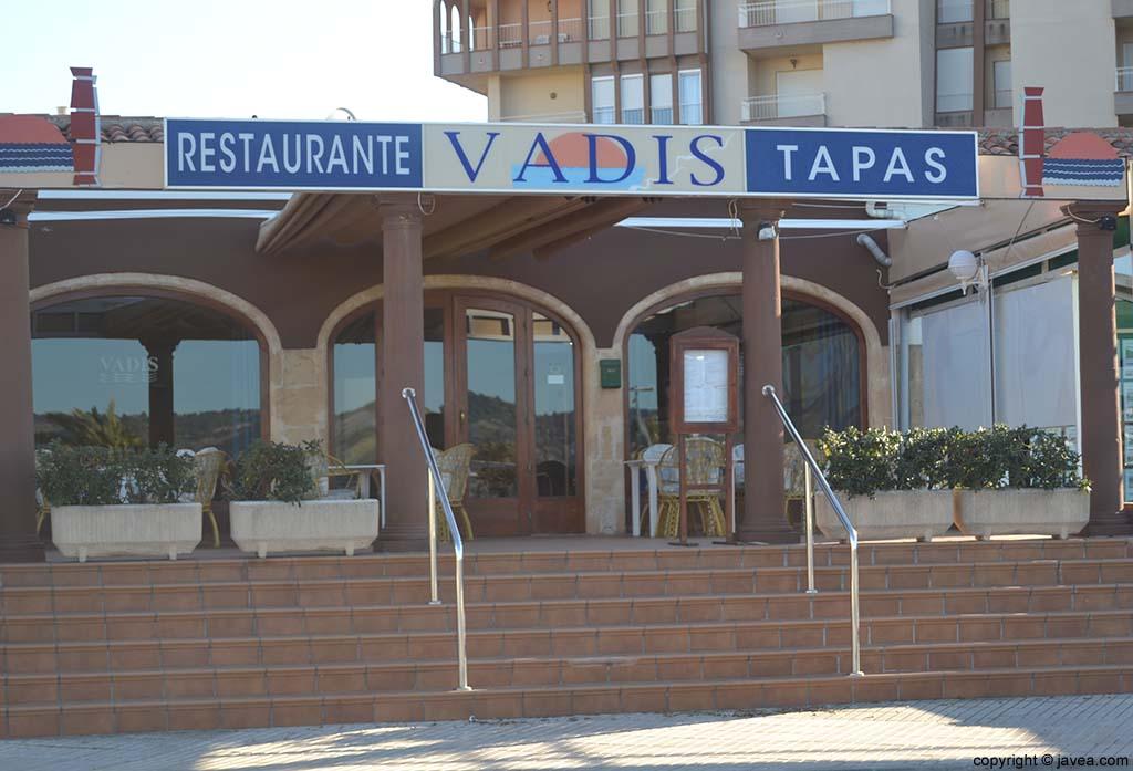 Restaurante Vadis en la Playa del Arenal de Jávea