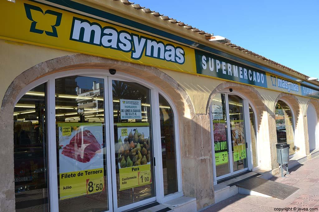 Supermercado MasyMas en la Playa del Arenal de Jávea