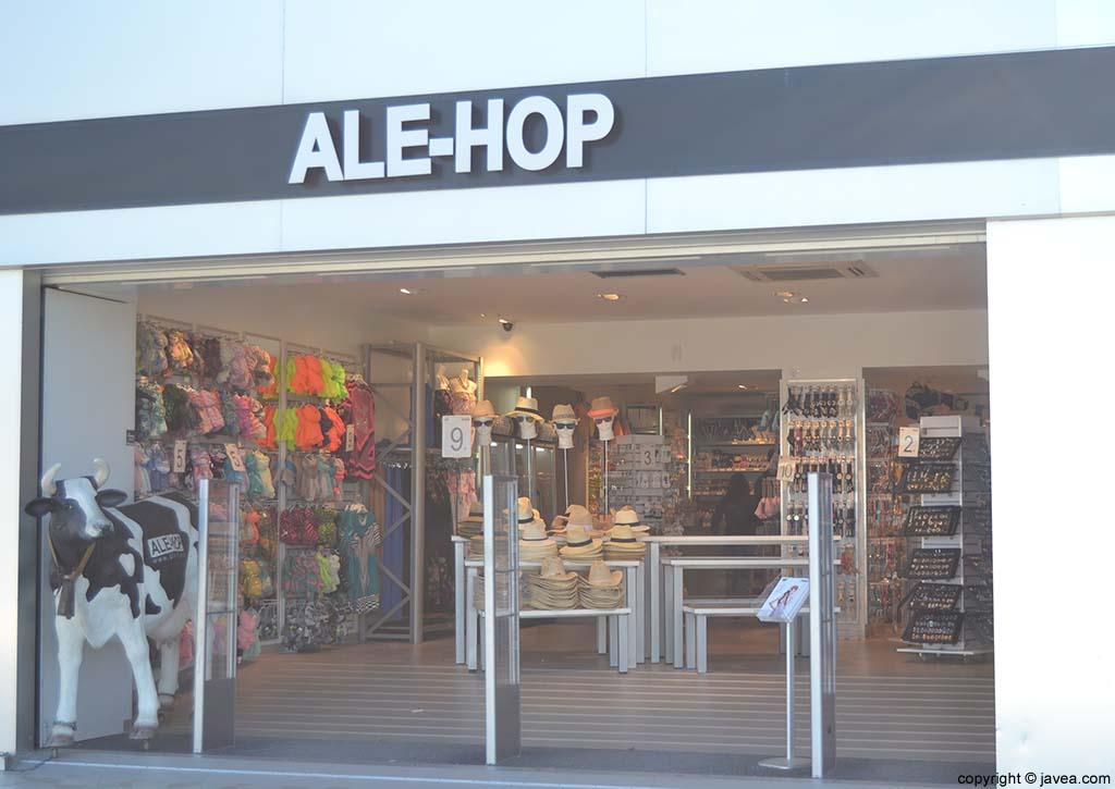 Tienda Ale-Hop en la Playa del Arenal de Jávea