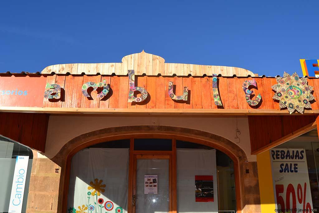 Tienda de complementos Ambule en la Playa del Arenal de Jávea