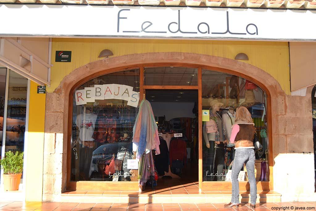 Tienda de moda Fedala en la Playa del Arenal de Jávea