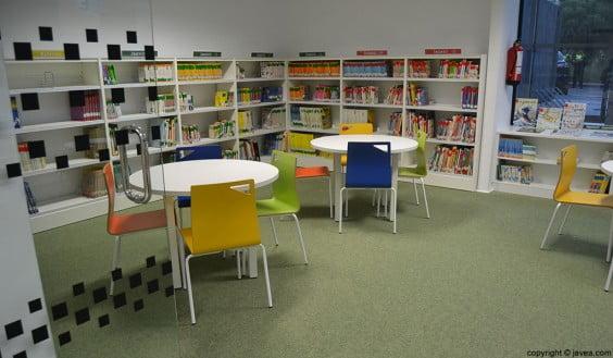 Zona infantil de la Biblioteca de Aduanas en la que se celebrará el cuentacuentos el Soldadito de Plomo para conmemorar el Día Internacional del Libro Infantil