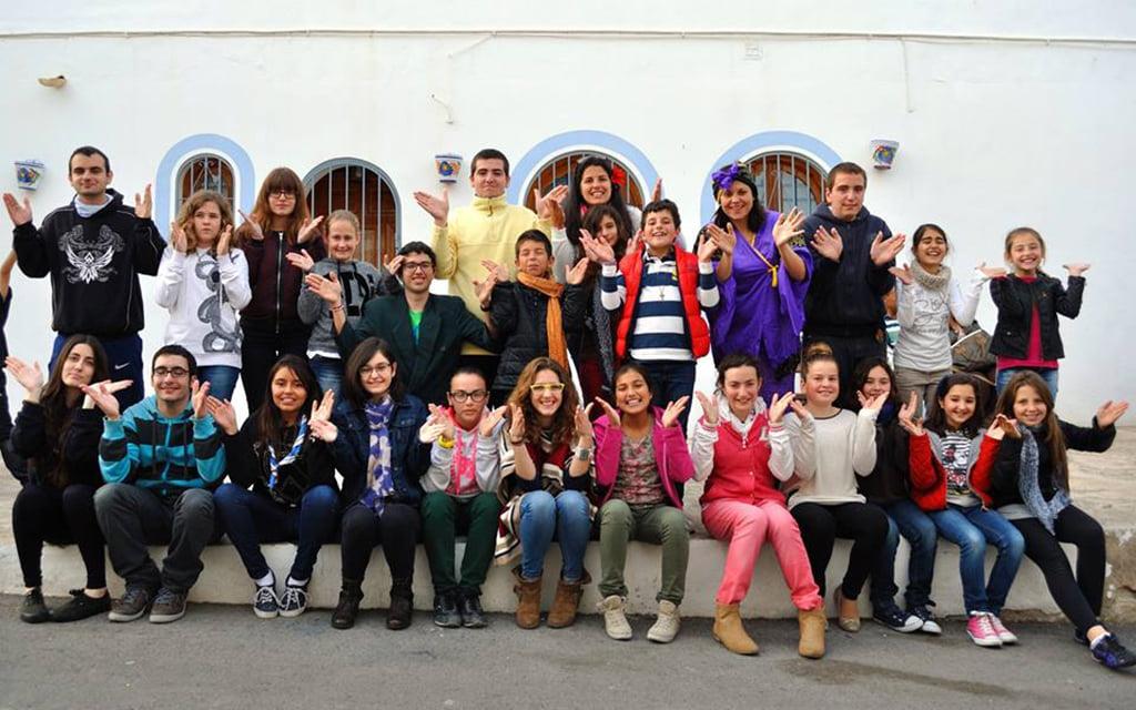 Algunos de los miembros del movimiento Junior de Nuestra Señora Virgen de Loreto de Jávea