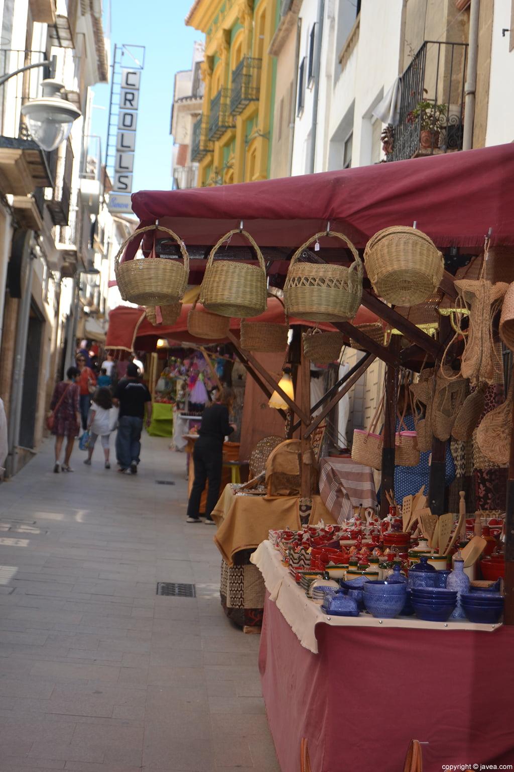 Artesanía en la Feria de Semana Santa de Jávea