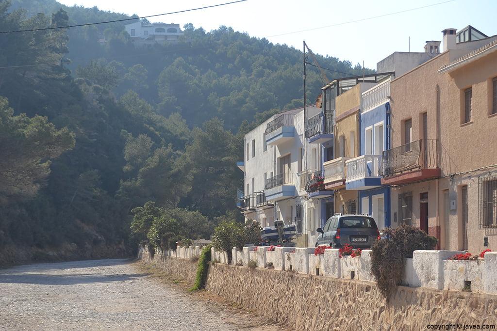 Avenida del Tío Catalá en la Cala de la Granadella Jávea