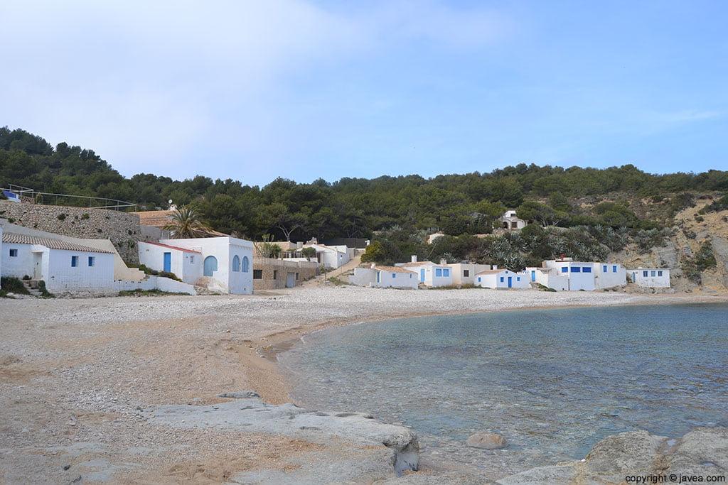 Cala de la Barraca o Cala del Portitxol en Xàbia