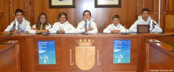 Equipo del Real Club Naútico de Jávea de Optimist ganadores del campeonato de España