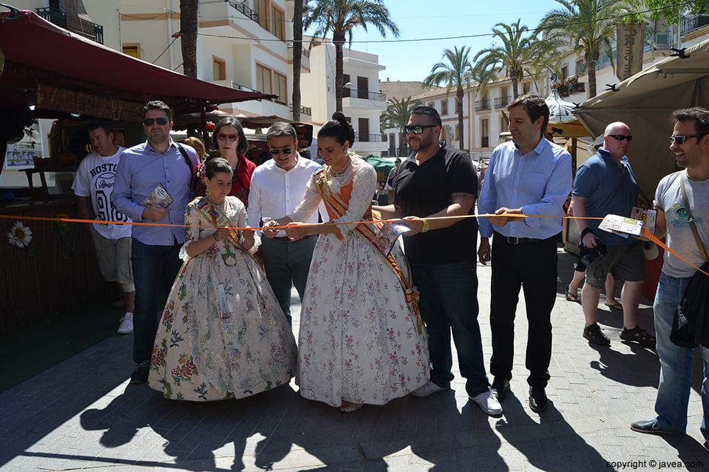 Inauguración de la Feria de Artesanía de Semana Santa de Jávea