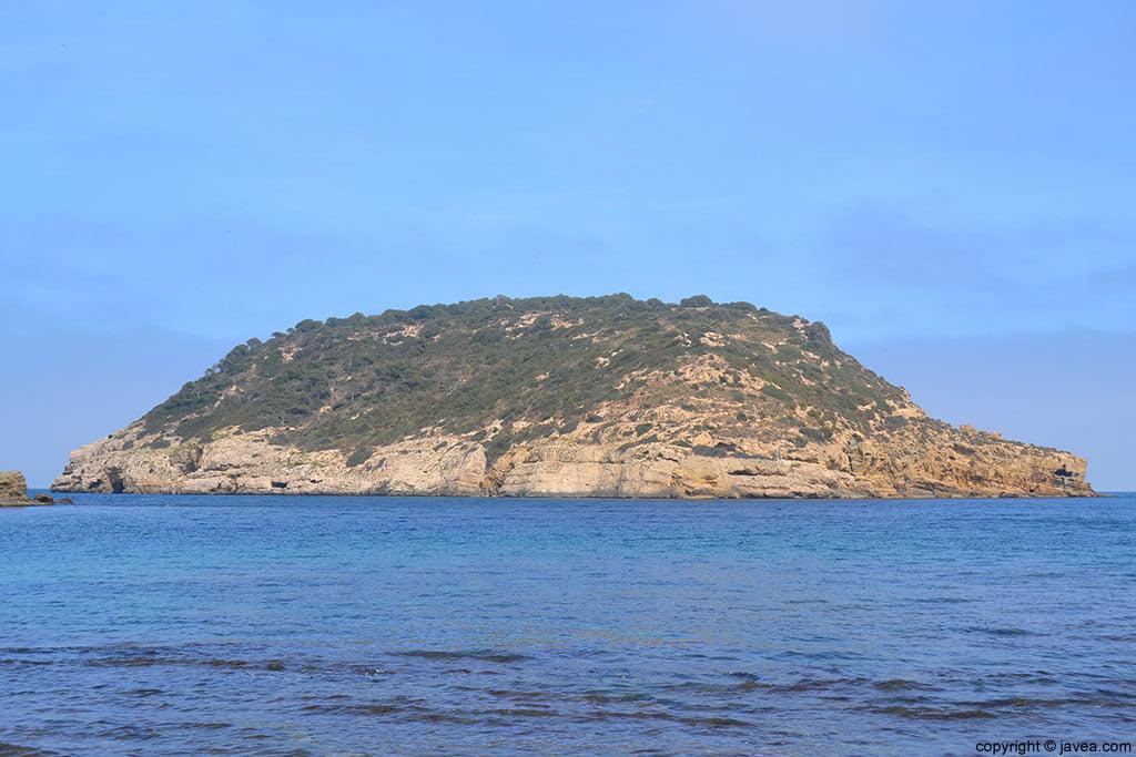 Isla del Portitxol en la cala de la barraca de Jávea