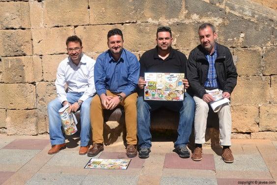 Jaume Serra, Juan Luís Cardona, Sisco Vallés y Carles Jover