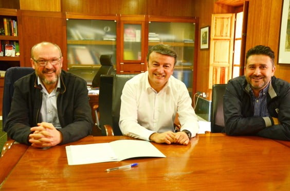 Josep Femenía, José Chulvi y Juan Luís Cardona