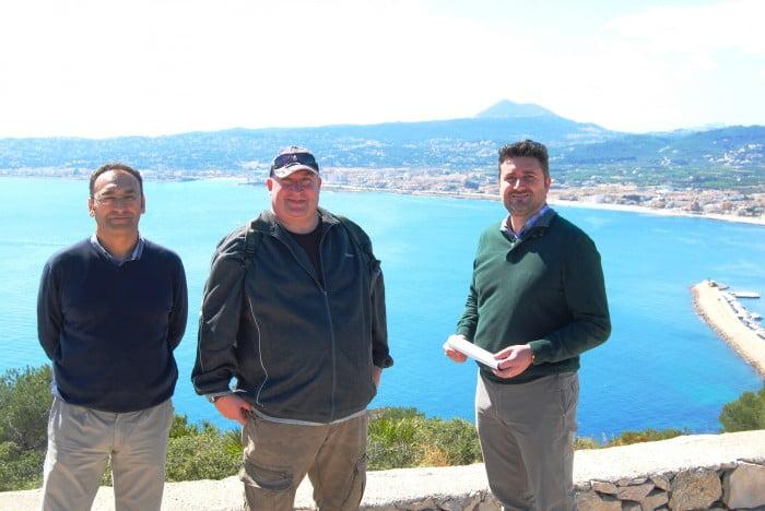 Juan Luis Cardona, Mike Smith y Paco Bisquert
