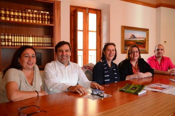 Pilar González, Antonio Miragall, Empar Bolufer, Nati Ballarín y José Vicente Giner
