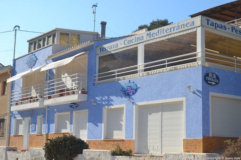 Restaurante Sur en Cala Granadella Jávea