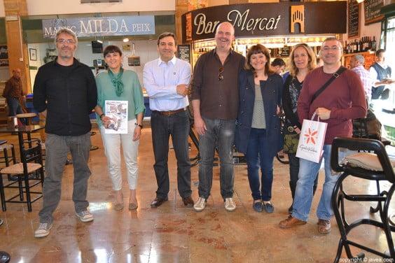 Santi Inocencio, Carol Cholbi, Antonio Miragall, Tere Bou y miembros de Marfull
