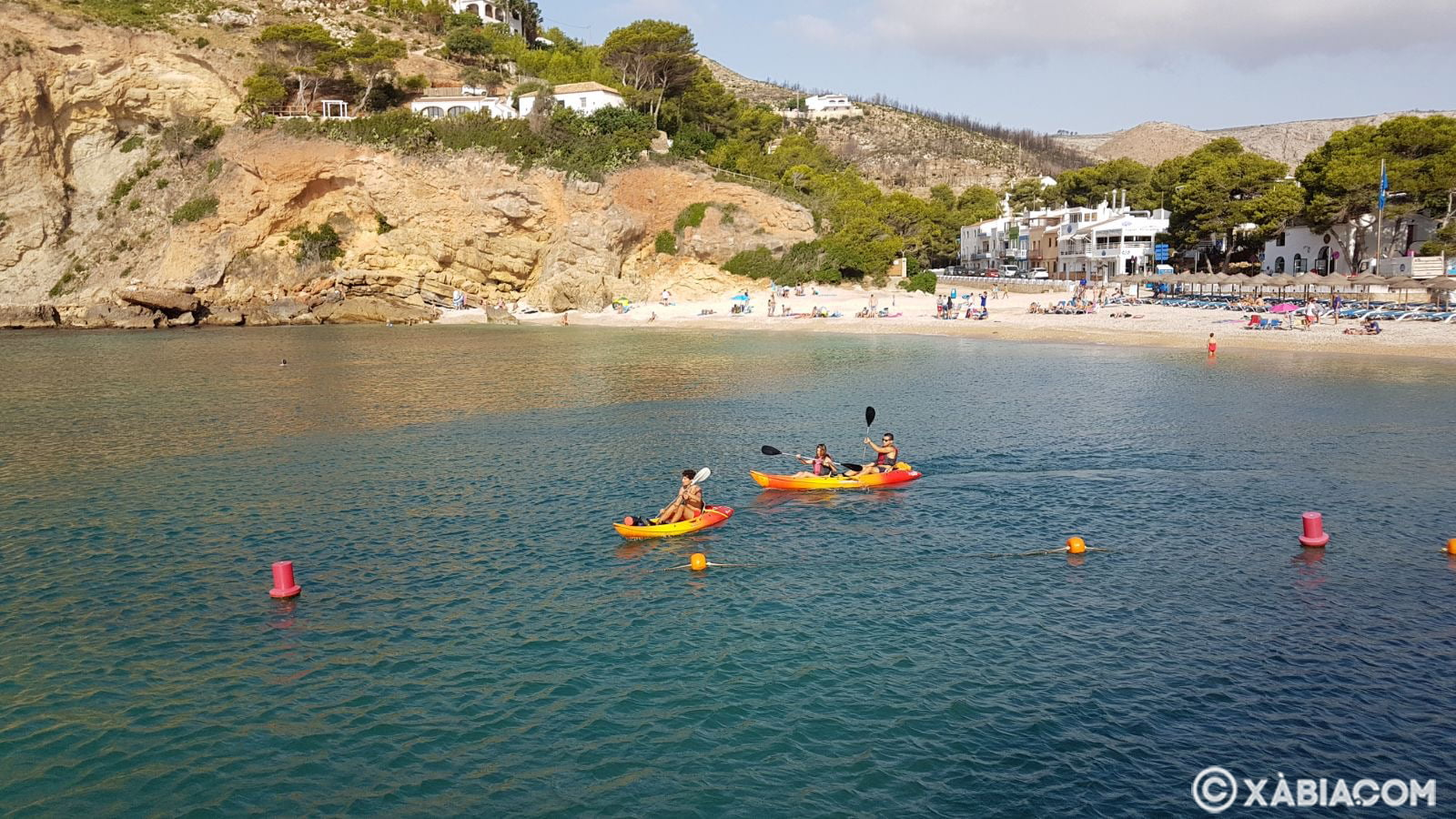 Practica de Kayak en la Granadella