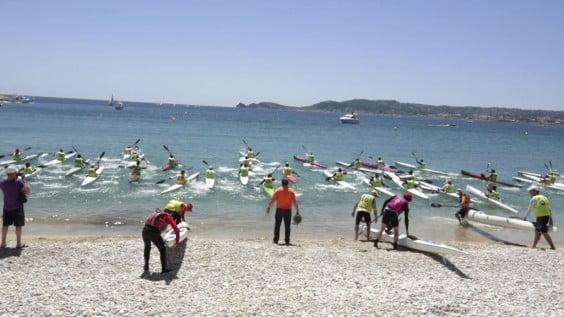 Actividad de deporte acuático en la celebración del Festival del Mar el pasado año
