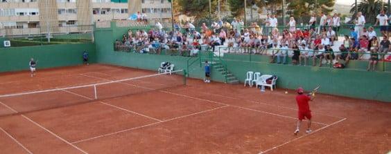 Club tenis Jávea durante un partido