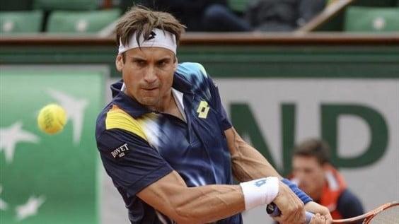 David Ferrer golpeando de reves