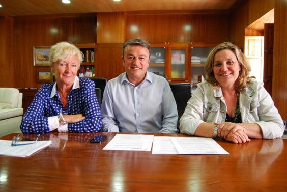 Doris Courcelles, José Chulvi y Tere Bisquert