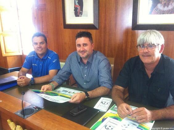 José Caravaca, Juan Luís Cardona y José Buigues