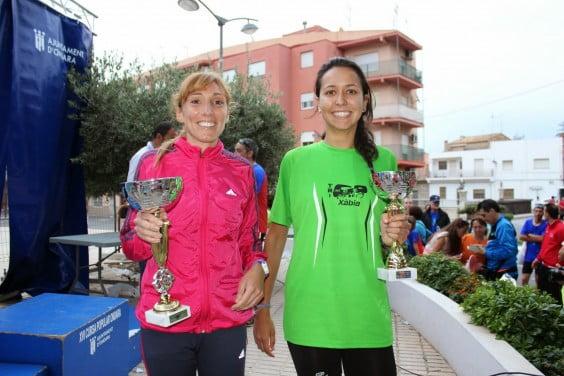 Mª Isabel Ferrer e Irene Bolufer subieron al podium