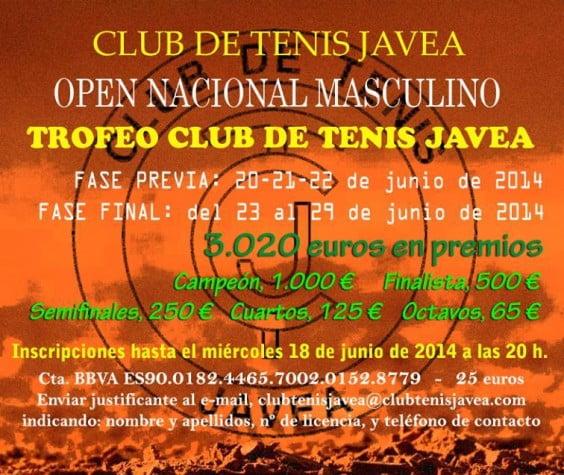 Cartel del Open Tenis Jávea
