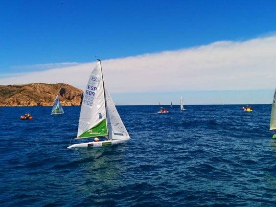Rafael Andarias en plena regata