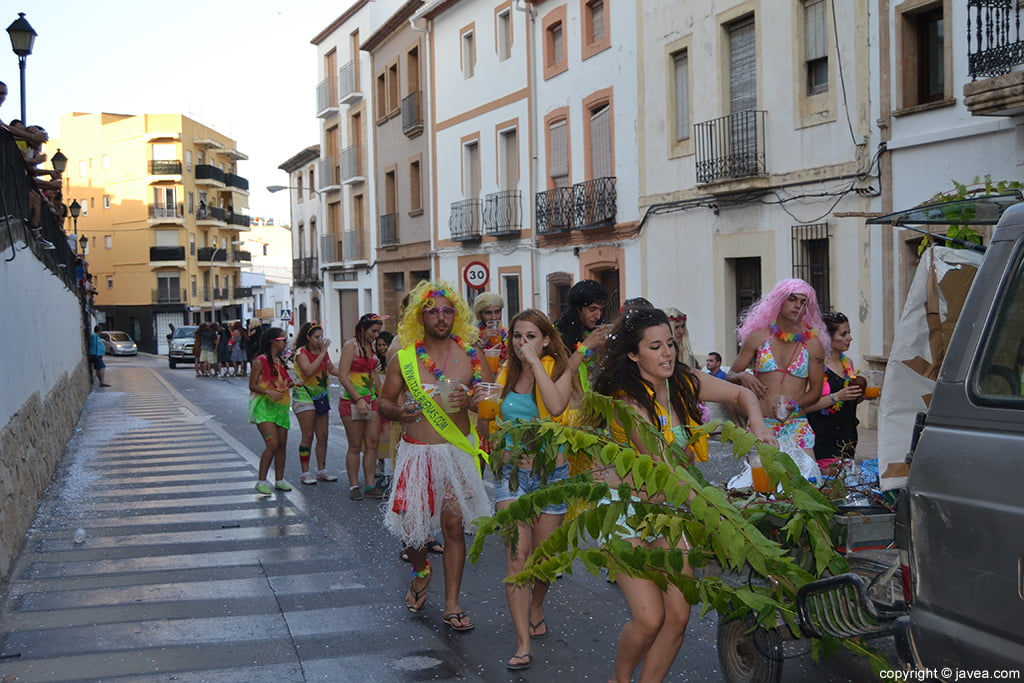 Desfile de peñas de San Juan de Jávea