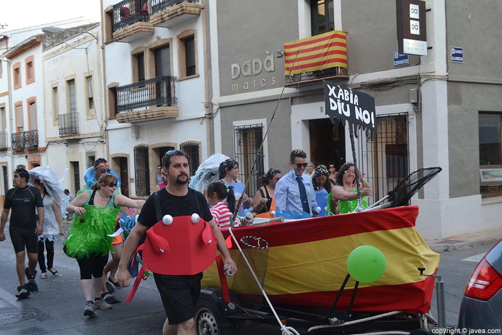 Desfile de penyes Xàbia