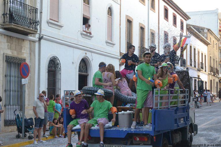 Desfile de penyes en Xàbia