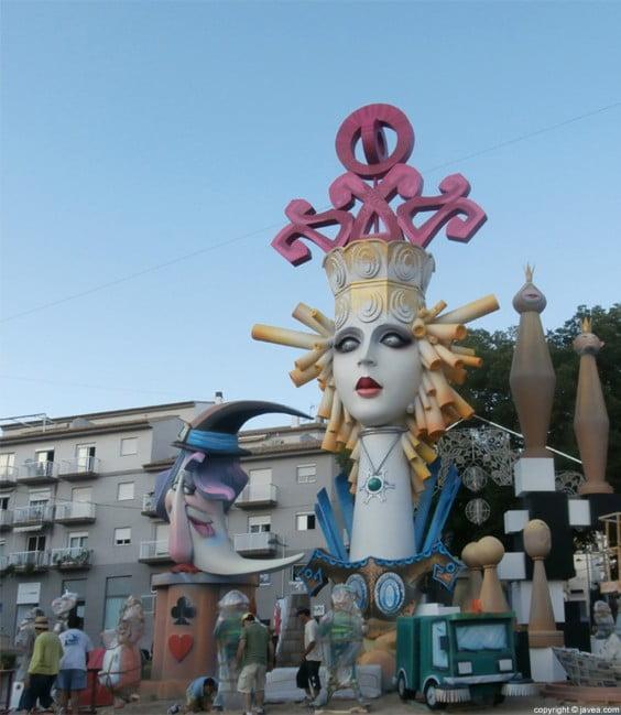 Hoguera Central de las fiestas de San Juan de 2013