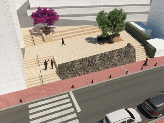 Infografía de cómo quedará la nueva plaza del puerto de Jávea