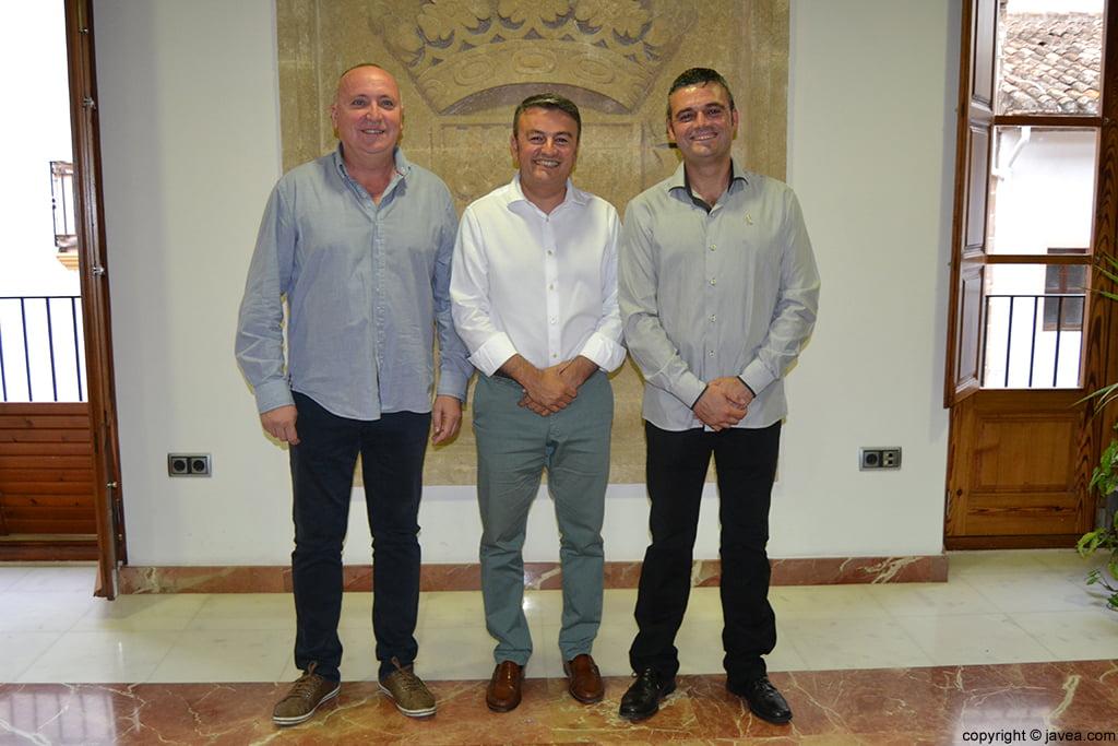 Juan Ortolá, José Chulvi y Jaime Escudero