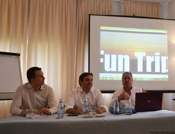 Lasse Rouhiainen, Antonio Mirgall y Mario Schumacher en la presentación del Fun Trip