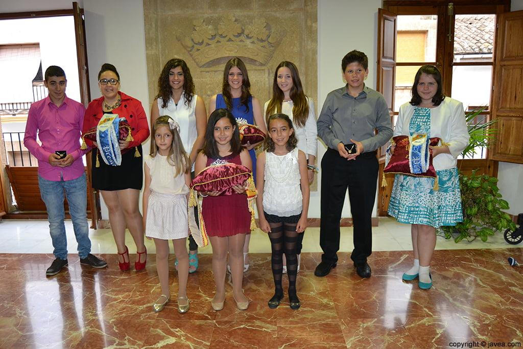 Los representantes de les Fogueres de Sant Joan 2014