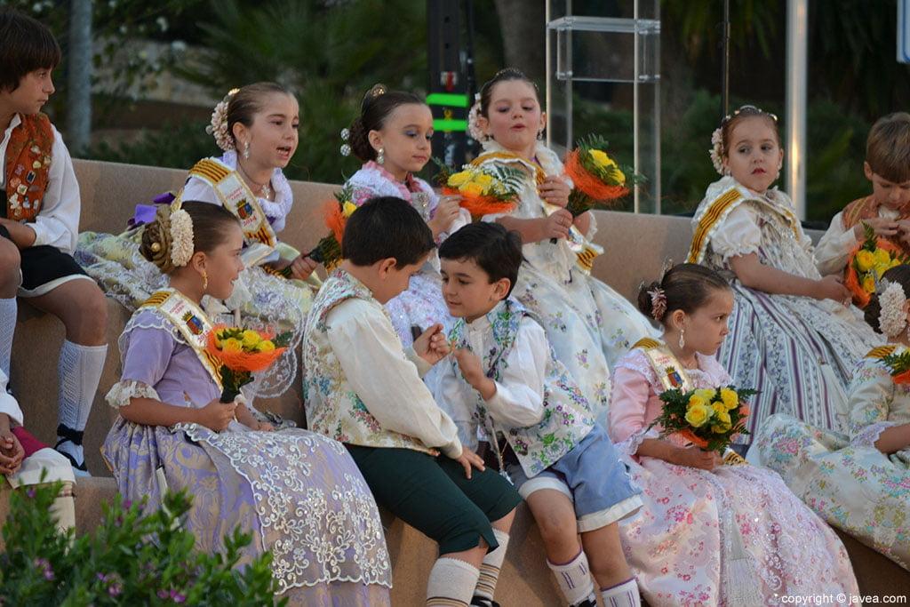 Momento de la proclamación infantil de Fogueres de Sant Joan 2014 de Xàbia