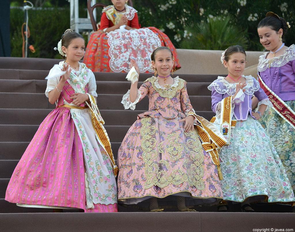 Momento de la proclamación infantil de Fogueres de Sant Joan de Xàbia 2014