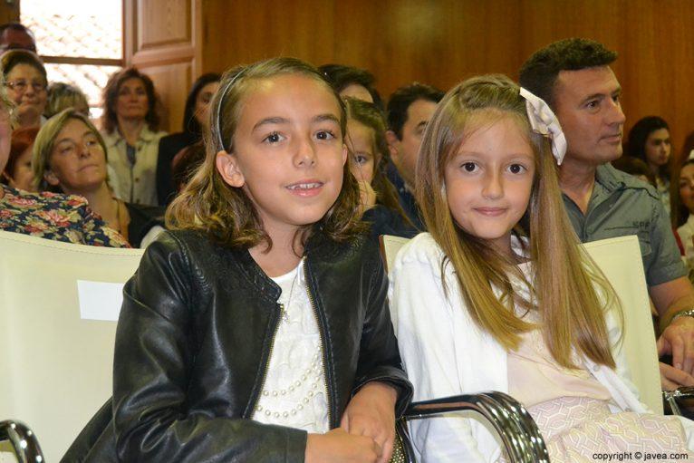 Nerea Mata Gutiérrez y Andrea López Lillo, damas infantiles de les Fogueres de Sant Joan 2014