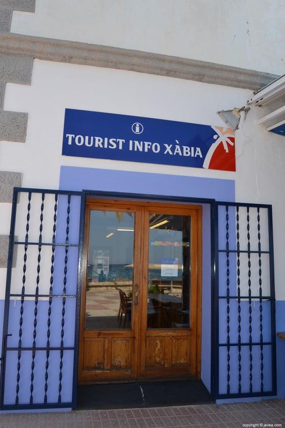 Oficina de turismo puerto de Jávea en el paseo marítimo