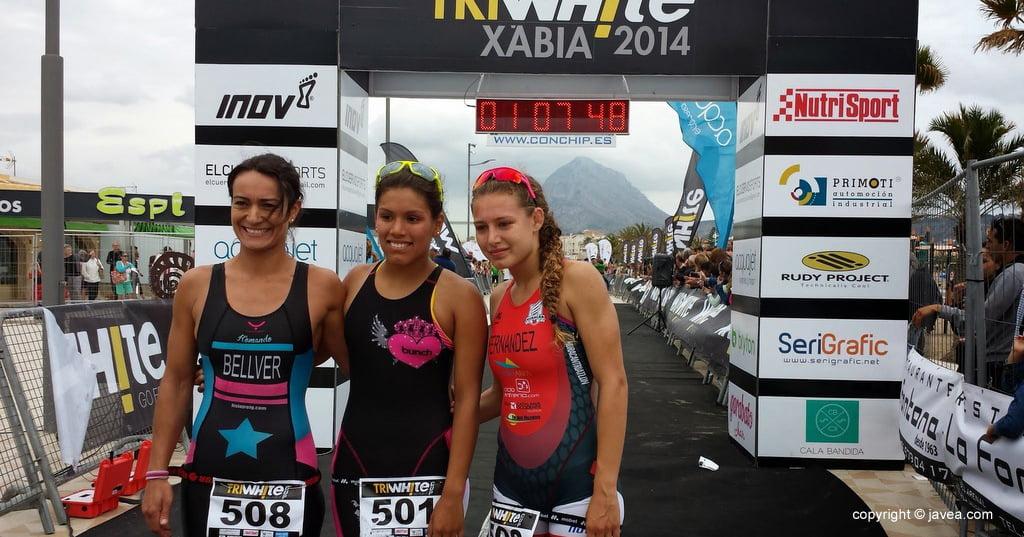 Sharom García, Andrea Fernández y Aida Bellver