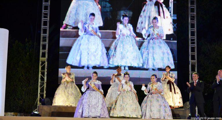 Proclamación corte de honor, damas y reina infantil de Fogueres 2013