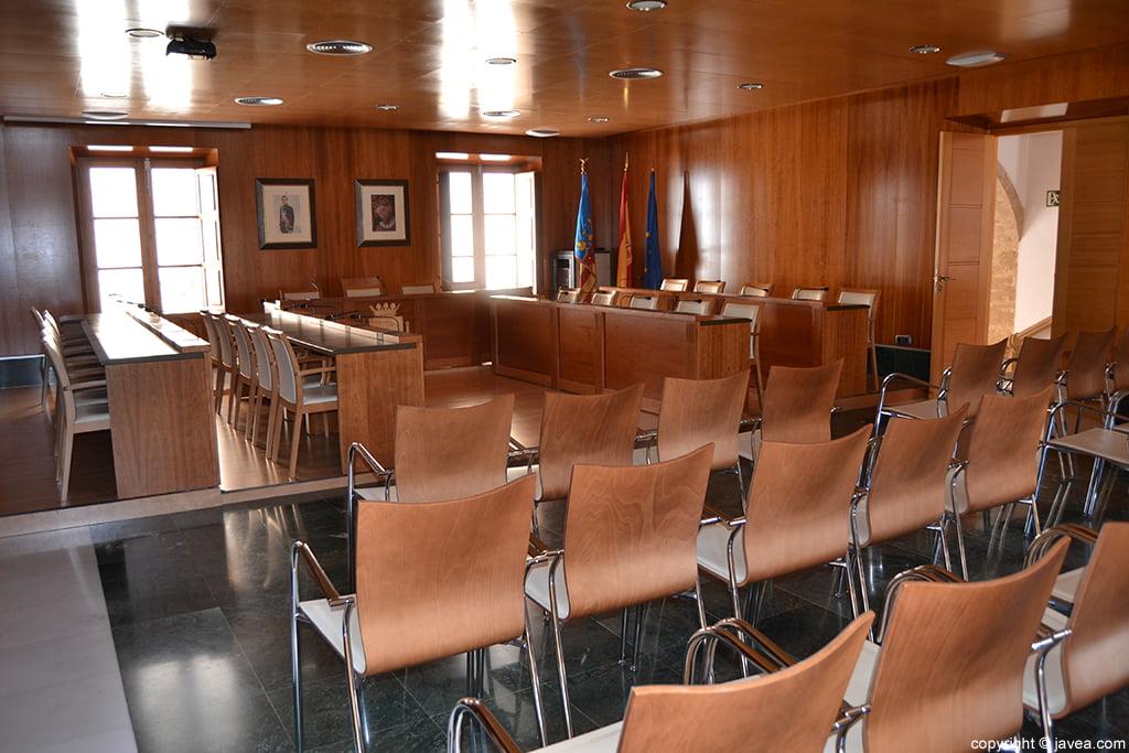 Salón del plenos del Ayuntamiento de Jávea