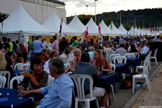 Stands en el Festival Internacional de Jávea