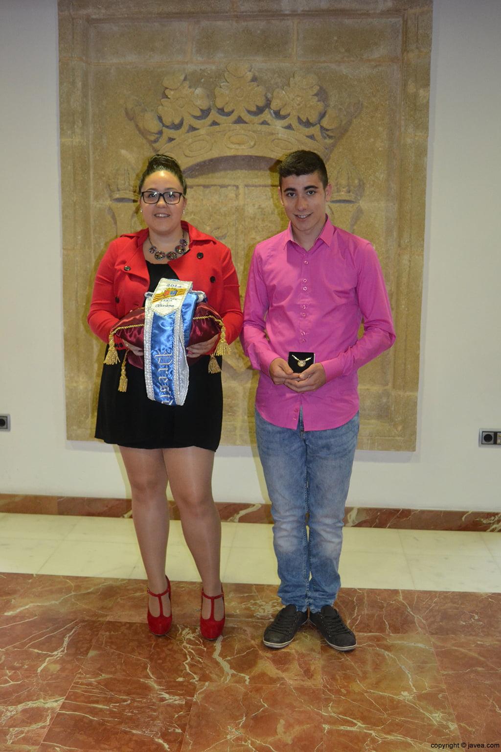 Tatiana Caballero Sánchez y Jordi Pons Diego, presidentes de la quintà 2014