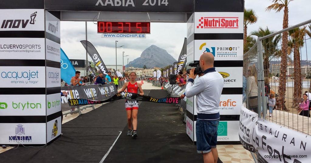 Nerea Segui vencedora del Triatlón Supersprint