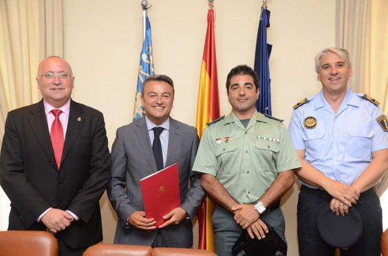 Juan Ortolá, José Chulvi, Javier Soliveres y José Antonio Monfort