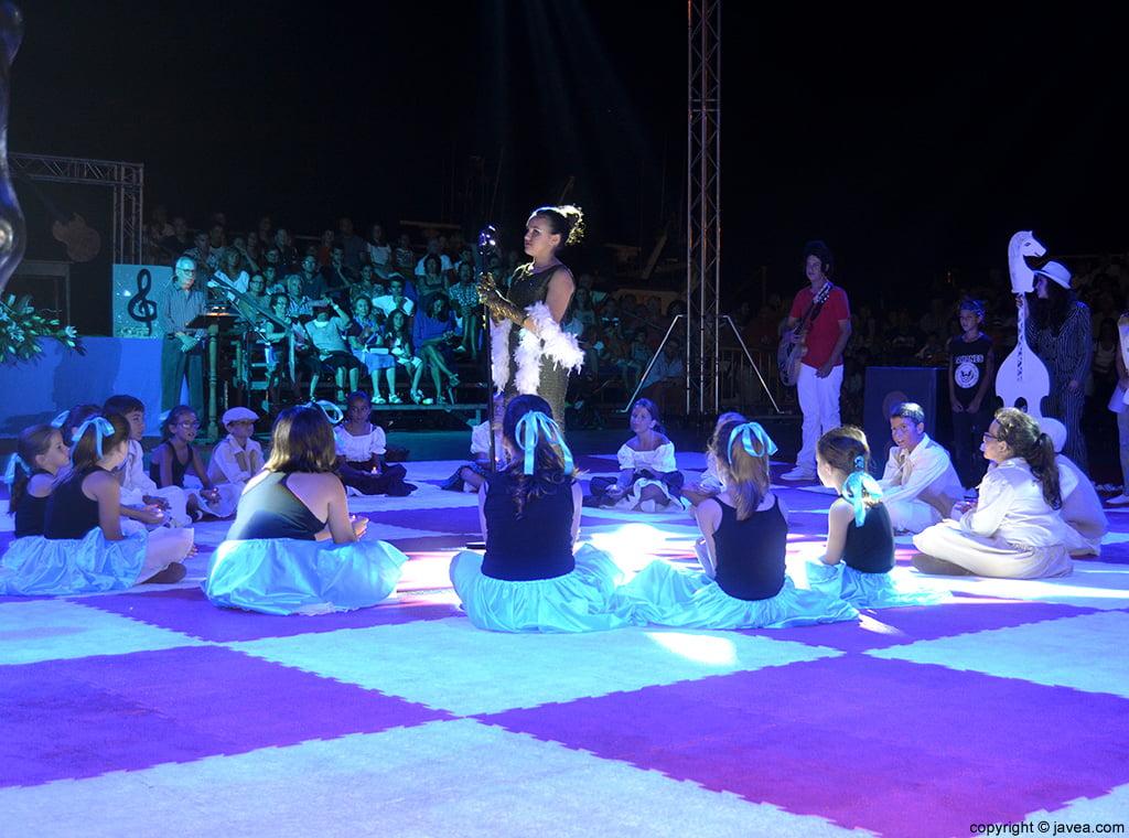 Representación teatral del Ajedrez Viviente de Jávea