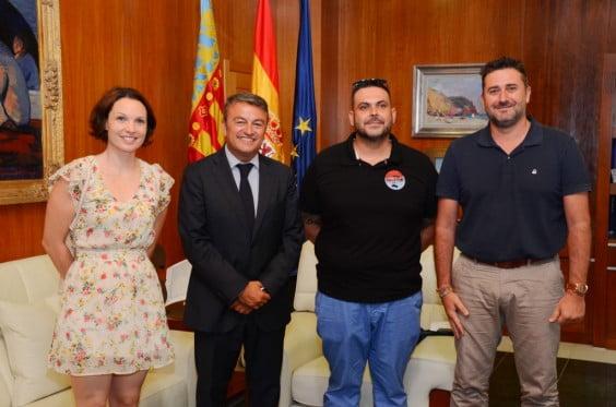 Yolanda Ponce, José Chulvi, Sisco Vallés y Juan Luís Cardona