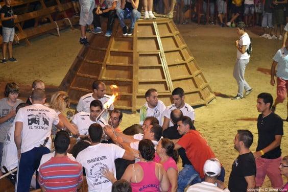 Celebración de Toro Embolado en las fiestas Mare de Déu de Loreto